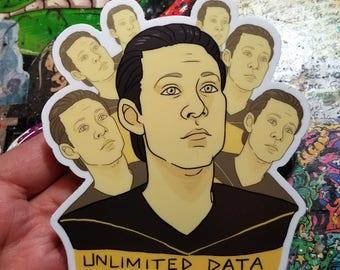 Vinyl Sticker - Unlimited Data