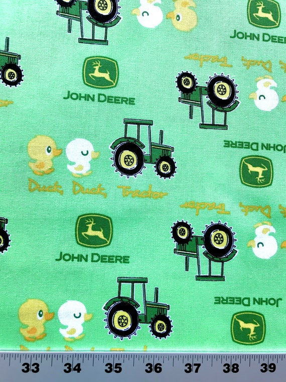 John Deere Green Farm Baby Fabric Tractors And Ducks