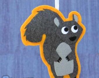 Woodland Felt Animal Ornament - Greta the Squirrel