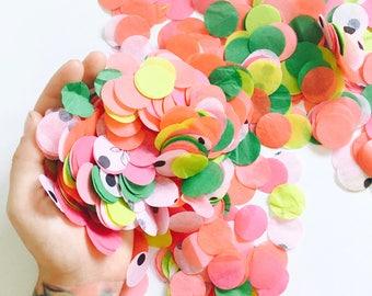 Watermelon Confetti - Watermelon Birthday Party Decor, Tropical Fruit Bachelorette, Baby Shower Confetti, Confetti Balloon, Pink and Green