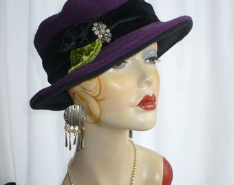 Eggplant Polar Fleece Brim Hat/Fedora