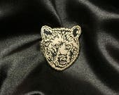 Bear Pin - Bear face Gold Pin - Animal Enamel Pin Lapel Pin Hard Enamel Pin Pin Game Pingame black gold grizzly bear black bear brown bear