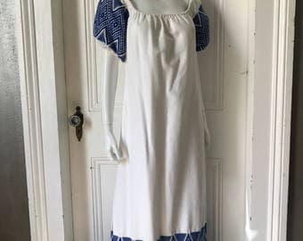 60's Vintage Hand Woven Hippie Guatemalan Dress med.