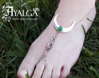 Moon foot bracelet