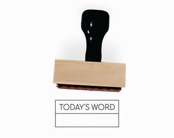Today's Word Stamp | WOTD Word of the Day | Minimalist Simple Planner Tools Supplies Accessories | Mounted Rubber Stamp by Creatiate | BJ1