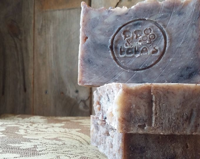 Peppermint Mocha Soap -- All Natural Soap, Handmade Soap, Essential Oil Soap, Hot Process Soap, Vegetarian Soap, Barely-Scented Soap