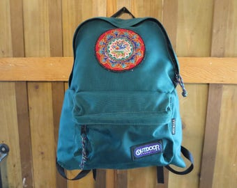 Vintage Green Hippie Backpack Outdoor Products USA