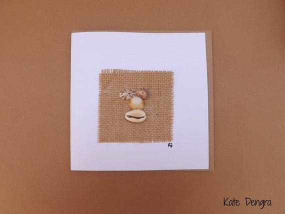 Shell Face Greetings Card