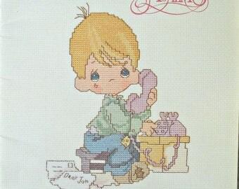 Precious Moments Dear Jon Cross Stitch Booklet PM-3, by Gloria & Pat, Vintage 1982
