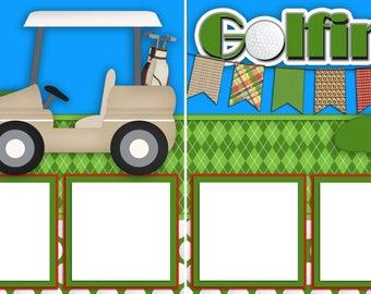 Golfing  - Digital Scrapbook Quick Pages - INSTANT DOWNLOAD