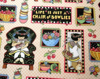 Mary Engelbriet Life is Just a Chair of Bowlies Fabric
