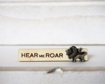 Lion Tie Clip Hear me Roar Lannister motto Laser Cut Lion Tie Bar Lions Game of Thrones Inspired