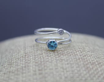Birthstone Ring, Gemstone Ring, Silver Gemstone Jewelry, Mom Ring, Gemstone Jewelry, Family, Birthstone Jewelry, Mom Baby Jewelry