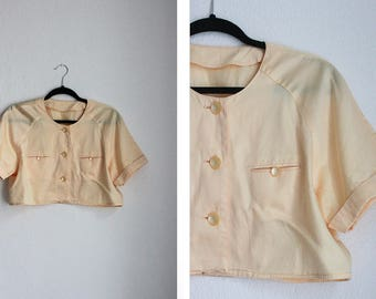 vic & lily Vintage Yellow Cropped Top