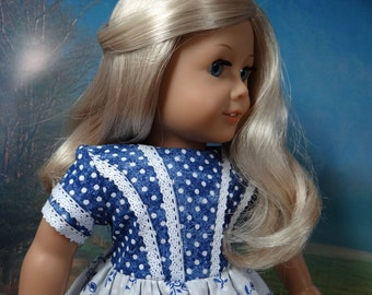1850s dress for American Girl or similar 18 inch doll.