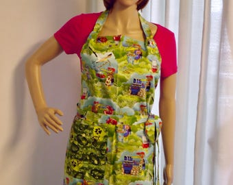 Apron, Full apron, A big bird barbecuing and abstract footballs and helmets on reverse