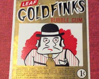 GoldFinks gumball machine sign