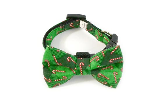 Candy Cane Bow Tie and Collar