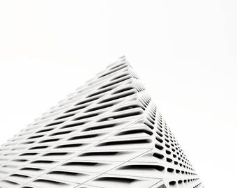 Point - Architecture pattern -  Black and White Photograph Print