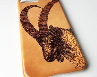 Goat phone case / Capricorn / Zodiac phone case / iPhone 8/ 8 Plus / 7 / 7 Plus / 6 / 6S / SE / 5 / 5S / Samsung Galaxy S7 / S6/S6 Edge / S5