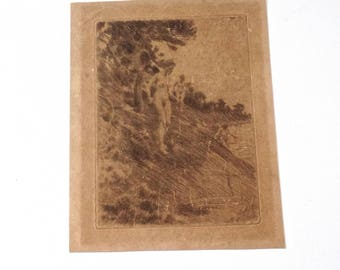 Anders ZORN Original 1912 Engraving, Swedish Fine Art Engraving, Swedish Antiques, Scandinavian Antiques, Scandinavian Fine Art, Art Deco