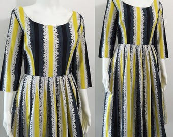 Wonderful 1950's Bold Print Dress