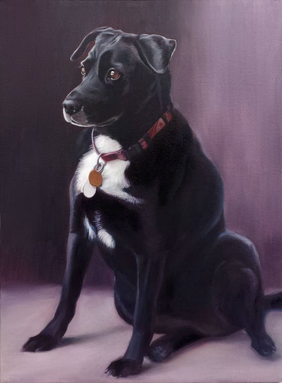 Custom Pet Portrait - Dog Portrait - Pet Painting - Oil Painting - Mixed Breed - Unique Gift