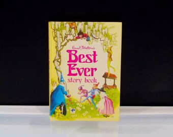 Best Ever Story Book Enid Blyton 1983 Hardcover Purnell Publishing Great Britain Children Classic Stories Pixie Fairy Tales