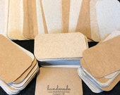 Upcycled Blank Business Cards - Kraft - Rounded Corners