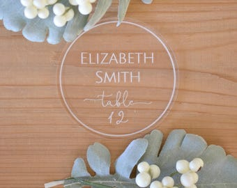 Acrylic place cards, geometric place cards, wedding table decor, calligraphy place cards