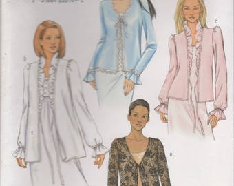 Cardigan or Bed Jacket Pattern Butterick 3611 Sizes XS, S, M Uncut