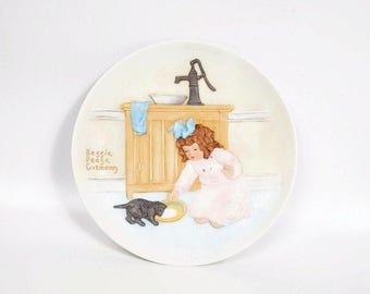 Vintage Bessie Pease Gutmann Plate 1985 Collector Plate Once Upon a Childhood The Foster Mother