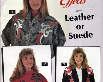 Sassy Lady Special Effects With leather or Suede Craft Pattern Book #910
