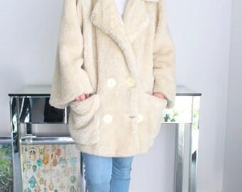 Manteau vintage fausse fourrure