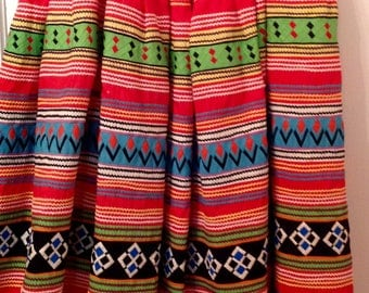 Vintage Seminole patchwork circle skirt Native American beauty