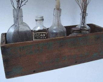 Vintage Rustic Wood Cheese Box Swifts Brookfield American
