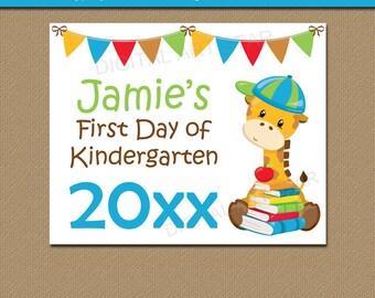 First Day of Kindergarten Sign, PRINTABLE Back to School Sign, Kindergarten Sign, Sign Photo Prop, School Sign Printable Digital Download