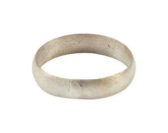Authentic Ancient Viking Ring Wedding Band  C.900A.D. Size 8 1/2. 18.5mm inner diameter. Band is 4.5mm wide.  (am17)