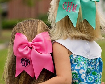 Monogram Hairbow, Hair Bows for Girls, Personalized Cheer Bows, Hair Accessories for Girls, Stocking Stuffer, Softball Hairbow, Hair Clip