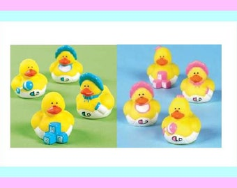 Baby Ducks for   Baby Shower Favors  or  Craft Supplies  - Pink or Blue - Set of 8 FREE SHIP