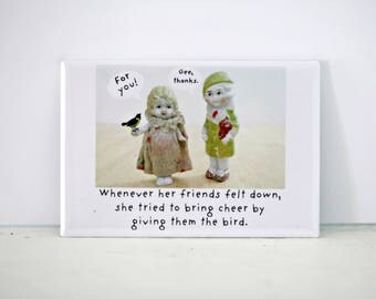 The Bird Funny Bisque Dolly Claudia Doll Friendship Magnet Friends