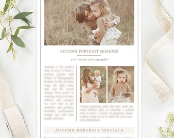 Photography Email Newsletter Templates, Photography Marketing Templates, Photography Advertising, Photography Branding Organic Set
