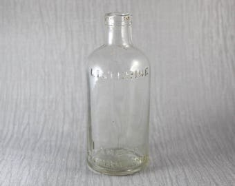 Small Vintage Medicine Bottle Listerine Lambert Pharmacal Company Clear Glass