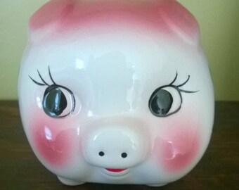 Porcelain Piggy Bank 1950s-1960s