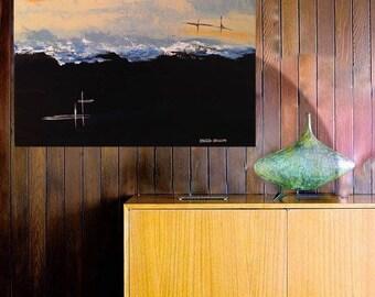 "ORiGiNAL 24 x 24 Landscape ABSTRACT""  -""MCM Beyond the Waves""""  original Acrylic Paint on canvas   -   24"" X 24""   (# 17-1970)"