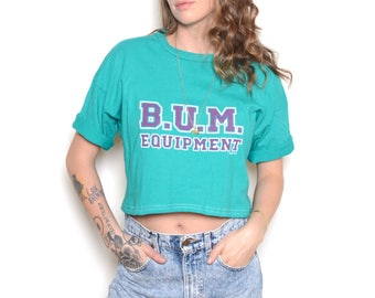 Vintage 90's BUM EQUIPMENT Cropped T-Shirt Sz L