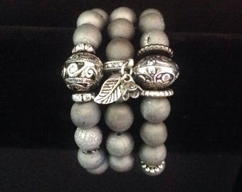 Druzy stretch bracelets, druzy bead bracelets, Druzy jewelry,  agate bracelets, druzy bracelet stack, druzy bracelet set, agate druzy