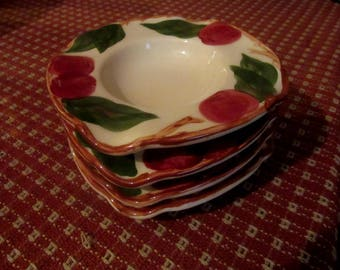 Franciscan apple individual table ashtrays (4)