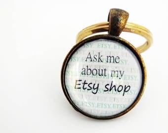 Etsy keyring,Etsy keychain,Etsy charm,Girl Boss,Lady Boss,Etsy Shop Owner,Ask Me About My Etsy Shop, Etsy seller gift,Small Business owner