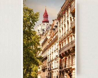 Paris wall art Large vertical art Paris cityscape large Architectural print Large wall art photography Living room decor City print 24x36